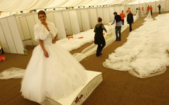 Der längste Brautschleier der Welt