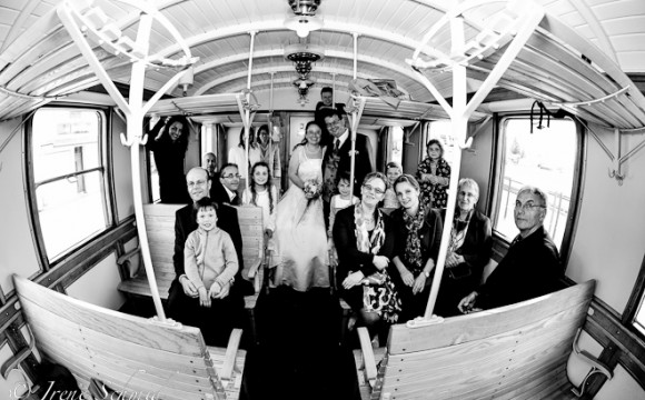 Hochzeit in historischer Dampfbahn