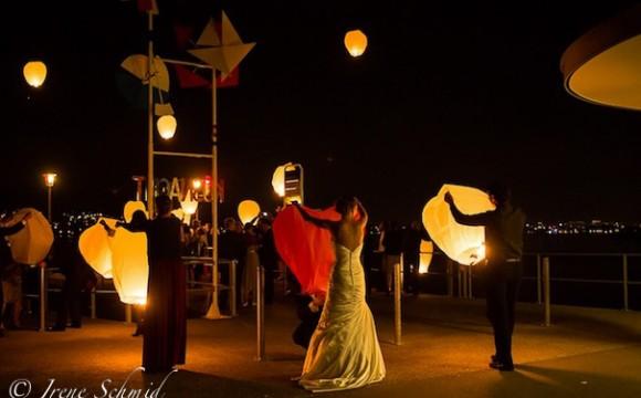 Himmelslaternen: Highlight an einer Hochzeitsfeier